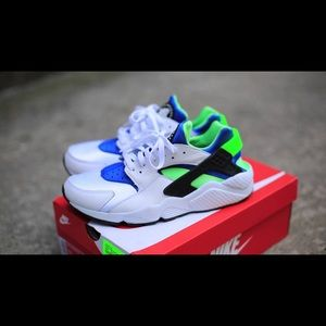 Nike Shoes | Nike Huaraches Blue Green